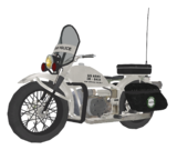 Military Police Motorcycle model