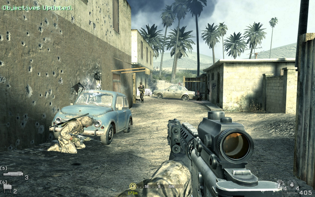 File:Proceed to alley on right at insertion point Charlie Don't Surf CoD4.png