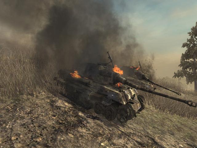 File:Destroyed Tiger II tanks WAW.png