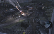 Overview of area from sniping vantage point Blackout CoD4