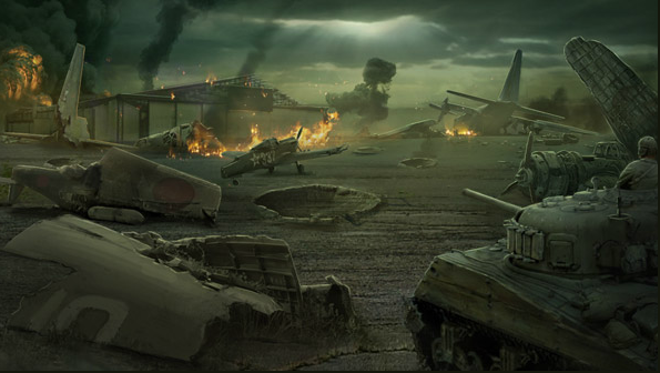 File:Japanese Airfield Captured Concept Art WaW.png