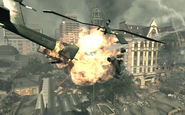 AH-64 Apache blowing up Goalpost MW3