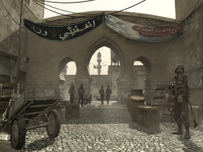 Infinity Ward Arabic Writing on a Banner