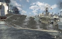 USS Nimitz sunk