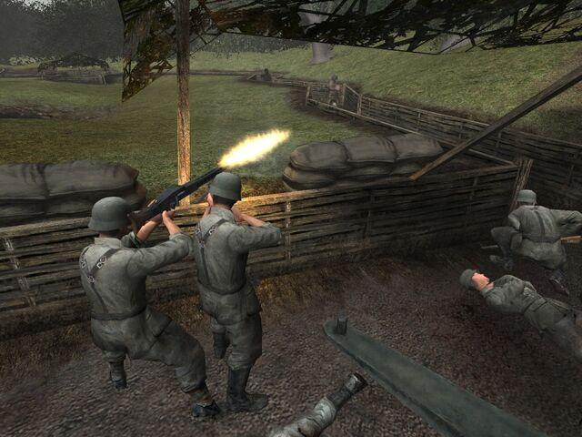 File:Call of Duty-German MG42 crew Brecourt Manor.jpg
