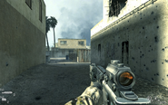 Tin structure at end of alley Charlie Don't Surf CoD4