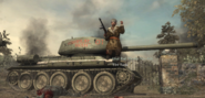 Reznov Standing on T-34 WaW
