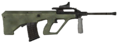 AUG HBAR Red Dot Sight 3rd person MW2