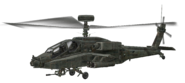 AH-64 Apache cut model woodland CoD4