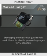 Marked Target Unlock Card IW
