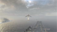 Hunter Killer Drone in flight Carrier BOII