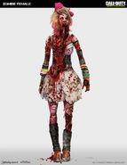 Female zombie concept IW
