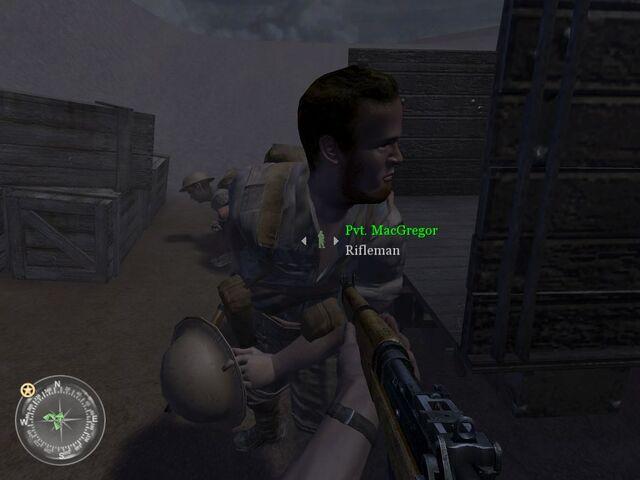File:MacGregor without helmet COD2 raid.jpg