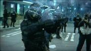 War Machine riot police ending cutscene BOII