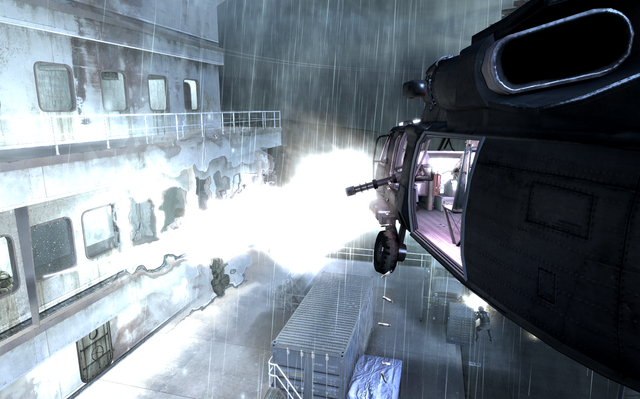 File:Minigun firing from UH-60 Crew Expendable COD4.png