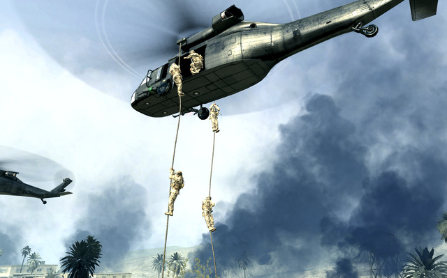 File:Marines rappeling from UH-60 Charlie Don't Surf COD4.png