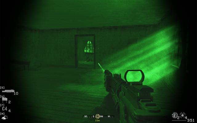 File:Firing at wall to penetrate kill final enemy Blackout CoD4.png