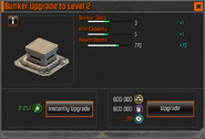 Bunker Level 2 Upgrade Stats CoDH