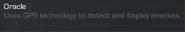 Oracle menu Description CoDG