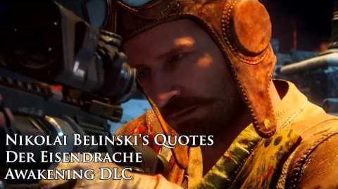 """Der Eisendrache - Nikolai Belinski's quotes Sound files (Black Ops III """"Awakening"""" DLC)"""