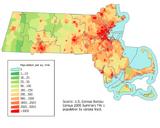 Massachusetts population map