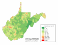 West Virginia population map.png