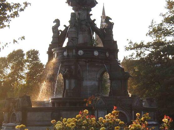 The Sanctuary Liberi Superum Fountain and Garden