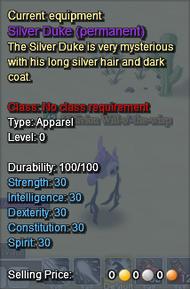 Silver Duke Description