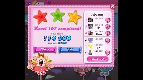 Candy Crush Saga Level 107 ★★★ NO BOOSTER