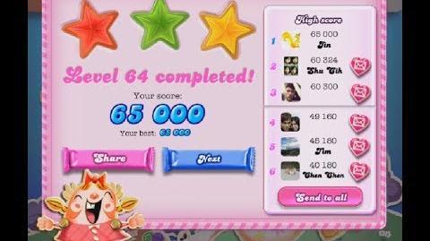 Candy Crush Saga Level 64 ★★★ NO BOOSTER