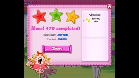 Candy Crush Saga Level 470 ★★★ NO BOOSTER