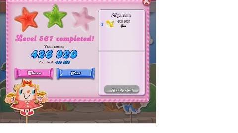 Candy Crush Saga Level 567 ★★ NO BOOSTER