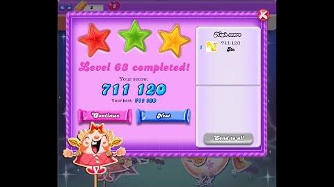 Candy Crush Saga Dreamworld Level 63 ★★★ 3 Stars