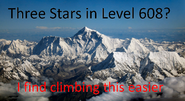 Reality level 608 three star difficulty meme
