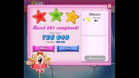 Candy Crush Saga Level 507 ★★★ NO BOOSTER