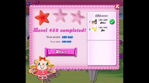 Candy Crush Saga Level 458 NO BOOSTER