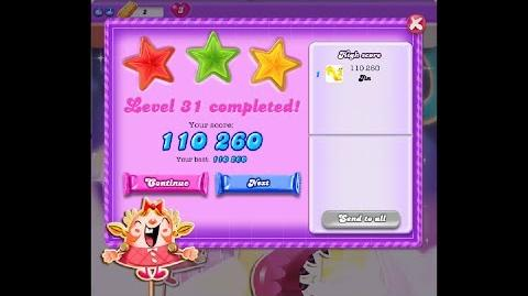 Candy Crush Saga Dreamworld Level 31 ★★★ 3 Stars