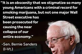 Bernie Sanders on marijuana and Wall Street