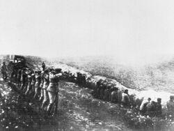 1942. Babi Yar, Kiev, Ukraine. Nazi mass murder