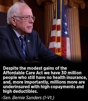 Bernie Sanders on Affordable Care Act