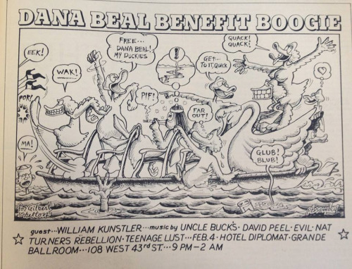 New York City 1972 Feb 4 Dana Beal Benefit Boogie