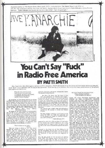 File:Patti Smith 1977 You Can't Say Fuck in Radio Free America.jpg