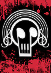 Blood skull melody canvas