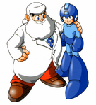 Dr Light and Mega Man