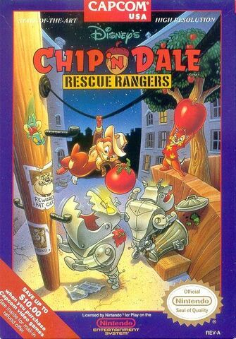 File:Chip 'n Dale- Rescue Rangers NA cover art.jpg