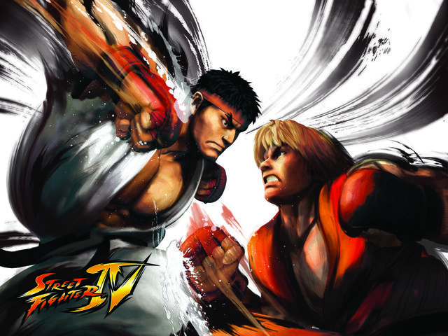 File:Street Figter IV wallpaper - Ken Vs Ryu.jpg