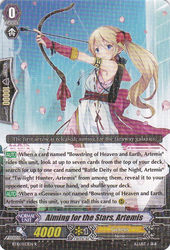 Aiming For The Stars Artemis Cardfight Vanguard Wiki
