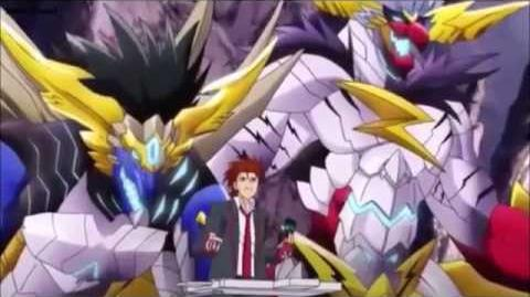 (Legion Mate) Cardfight!! Vanguard Brawler, Big Bang Knucke Dragon & Big Bang Slash Dragon HD