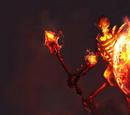 Flaming Skeleton Warrior