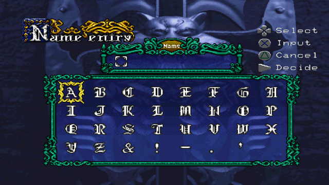File:Symphony of the Night - Name Entry Screen - 02.png